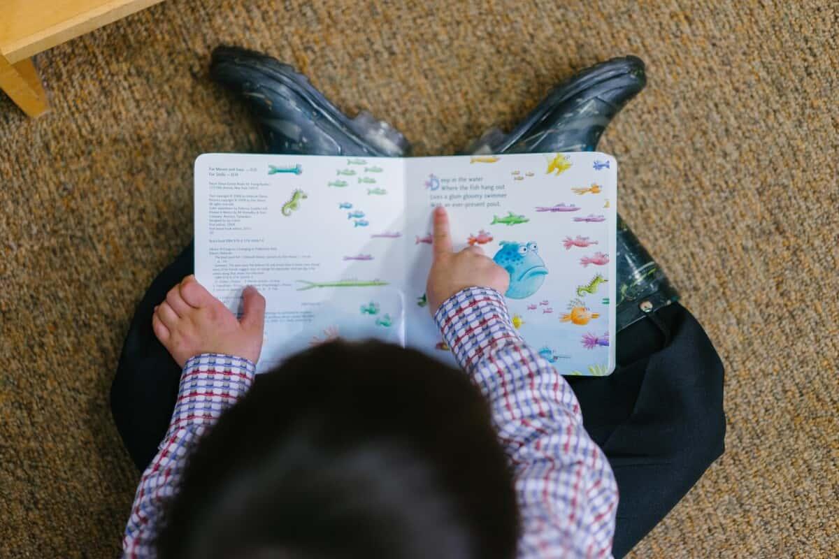 boy reading english short stories