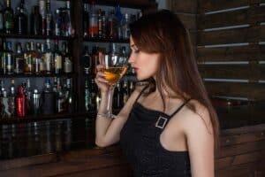 Girl in a casual bar