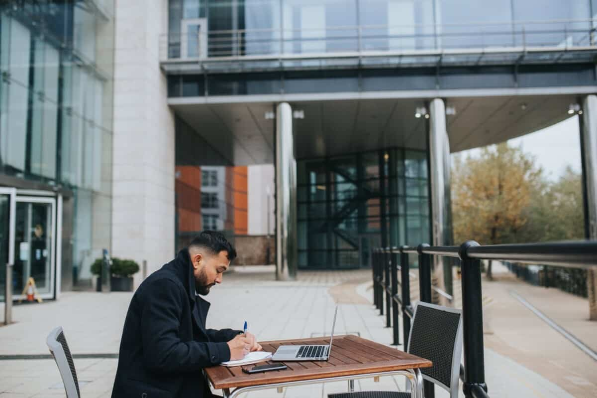 Man Studying English