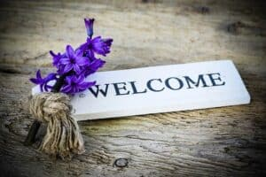 It's nice to be welcomed warmly
