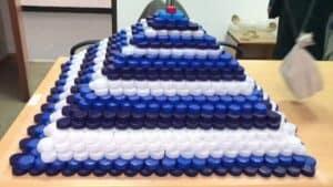 bottle cap tower