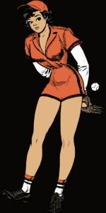 Woman in baseball | Denwasensei